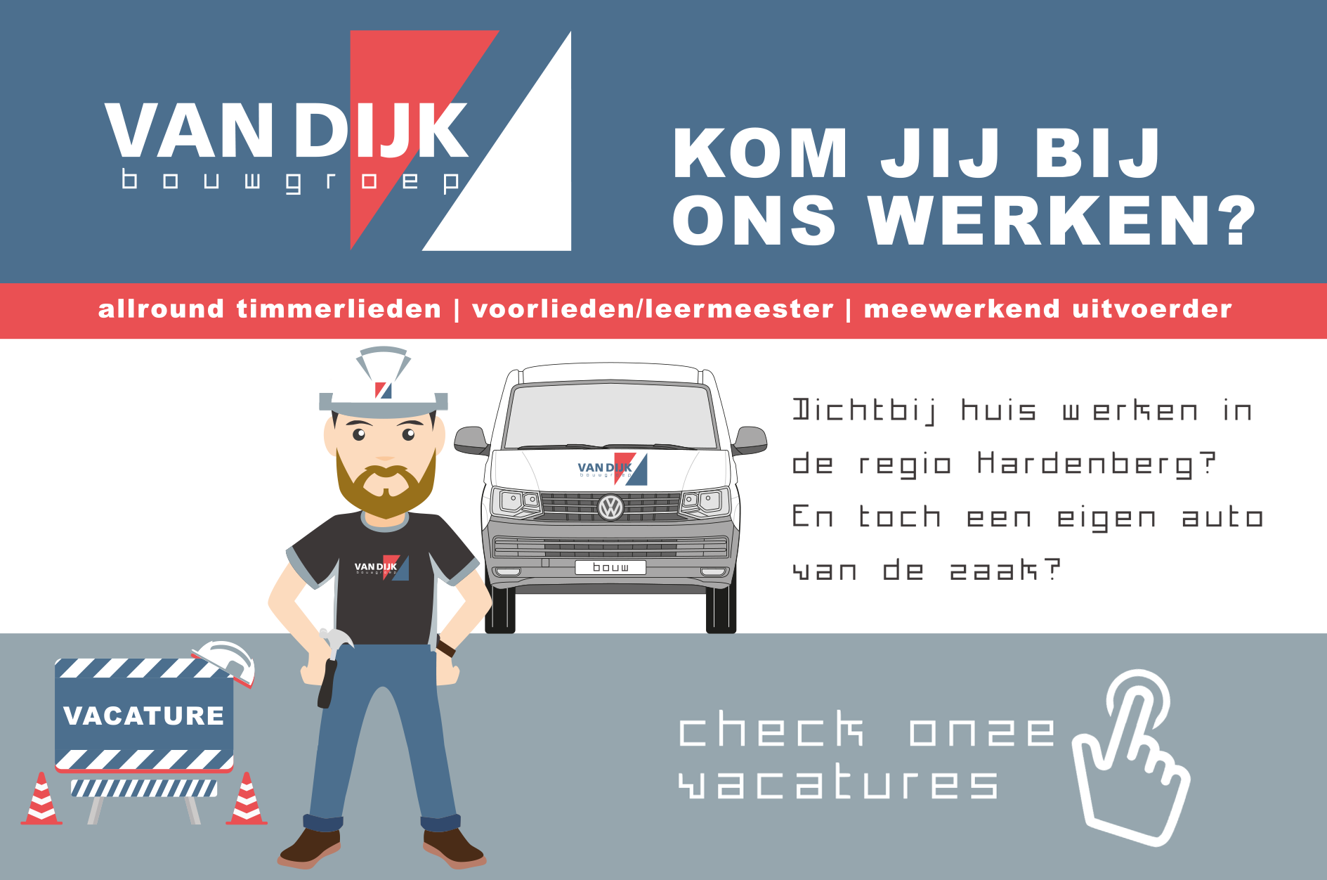 Vacatures bij Van Dijk Bouwgroep in Hardenberg